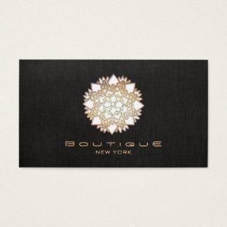 Stilvolle weißer Lotos-Blumen-neues Alter Visitenkarte