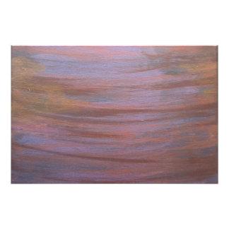 Stilvoller abstrakter   lila Brown kupferner Fotodruck
