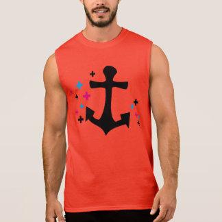 stilvoller Anker Ärmellose T-Shirts