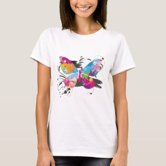 Stilvoller bunter Schmetterling T-Shirt