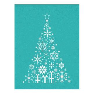 Stilvoller eleganter weißer und aquamariner postkarte