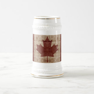 Stilvoller Entwurf der Kanada-Ahornblattflagge Bierglas