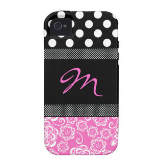 Stilvoller Girly Monogramm iphone 4 Fall Case-Mate iPhone 4 Hüllen
