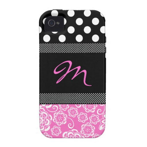 Stilvoller Girly Monogramm iphone 4 Fall Case-Mate iPhone 4 Cover
