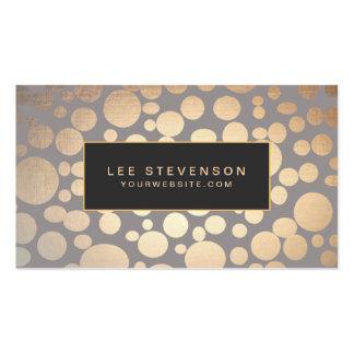 Stilvoller Goldkreis-Muster-Schönheits-Salon Visitenkarten