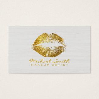 Stilvoller GoldlippenMaskenbildner-modernes Holz Visitenkarten