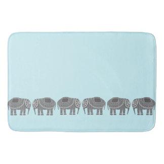 Stilvoller grauer verzierter Elefant-Entwurf, Badematte