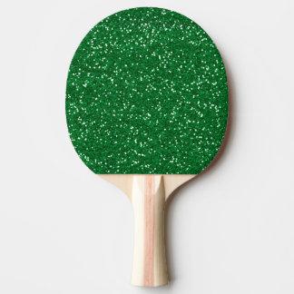 Stilvoller grüner Glitter Tischtennis Schläger