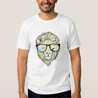 Stilvoller Hipster-Löwe Tshirt