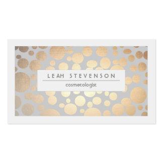 Stilvoller Imitat-Goldfoliecosmetologist-Salon und Visitenkarten