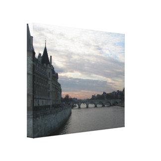 Stilvoller Leinwand-Druck mit Sonnenuntergang in Leinwanddruck