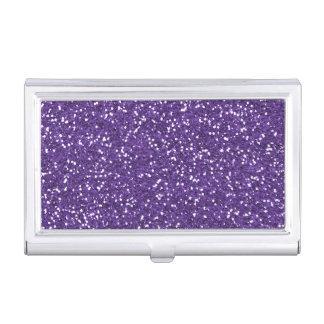 Stilvoller lila Glitter Visitenkarten Etui