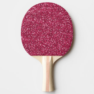 Stilvoller rosa Glitter Tischtennis Schläger