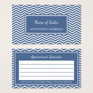 Stilvoller Schiefer-blaue Zickzack Visitenkarte