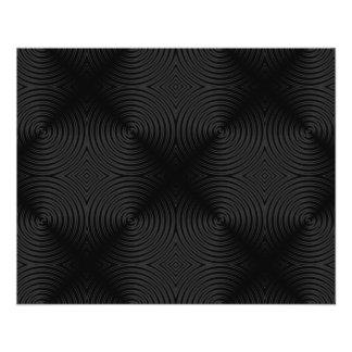 Stilvoller, schwarzer Kreisentwurf. Gewohnheit 11,4 X 14,2 Cm Flyer