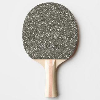 Stilvoller silberner Glitter Tischtennis Schläger