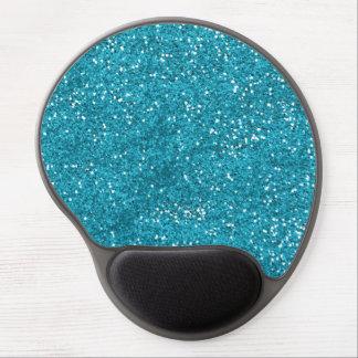 Stilvoller Türkis-Blau-Glitter Gel Mousepad