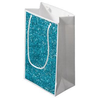 Stilvoller Türkis-Blau-Glitter Kleine Geschenktüte