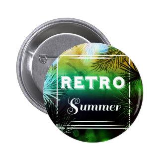 Stilvoller Vintager Knopf des Retro Sommers Runder Button 5,1 Cm