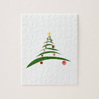 Stilvoller Weihnachtsbaum Puzzle