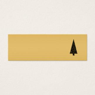 Stilvoller Weihnachtsbaum. Schwarzes und Gold Mini Visitenkarte