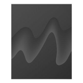 Stilvoller Wellen-Entwurf in dunkelgrauem. 11,4 X 14,2 Cm Flyer