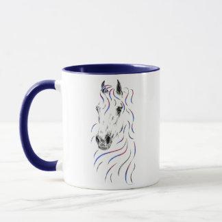 Stilvolles arabisches Pferd Tasse
