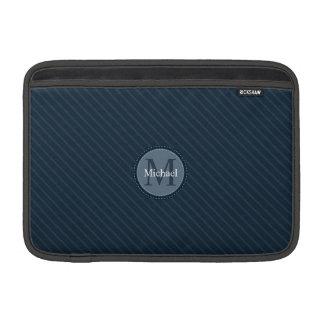 Stilvolles blaue Streifen-kundenspezifisches MacBook Air Sleeve