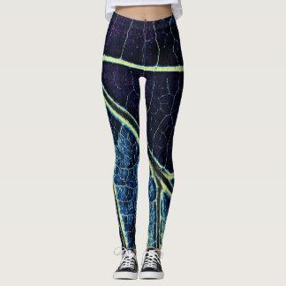 Stilvolles blaues Blatt #2 Leggings