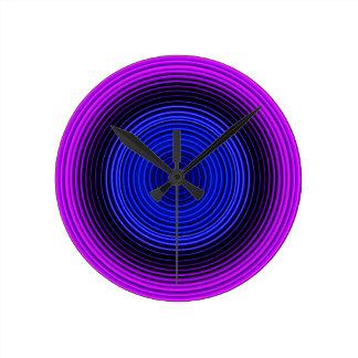Stilvolles blaues Muster Runde Wanduhr