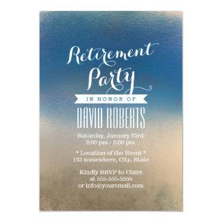 Stilvolles blaues u. weißes 12,7 x 17,8 cm einladungskarte