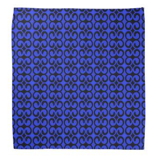 Stilvolles blaues und schwarzes Muster Kopftuch