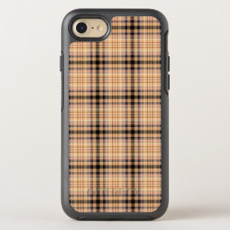 Stilvolles braunes kariertes Muster OtterBox Symmetry iPhone 8/7 Hülle