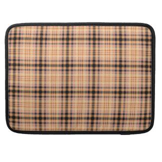 Stilvolles braunes kariertes Muster Sleeve Für MacBooks