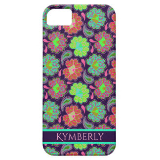 Stilvolles buntes Paisley mit personalisiertem Barely There iPhone 5 Hülle
