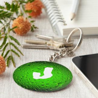 Stilvolles cooles grünes Wasser lässt Monogramm Schlüsselanhänger