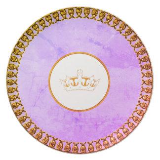 """""""Stilvolles Designs_Paris-Skies__Gold_Crown Melaminteller"""