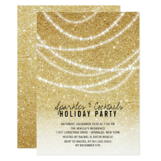 Stilvolles Feiertags-GoldGlitter-Glitzern-Party Karte