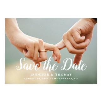 Stilvolles Foto Save the Date Karte