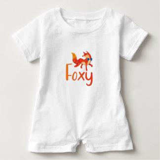 Stilvolles Foxy mit illustriertem Fox für Baby Baby Strampler