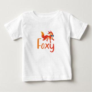 Stilvolles Foxy mit illustriertem Fox für Baby Baby T-shirt