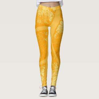 Stilvolles gelbes Blatt Leggings