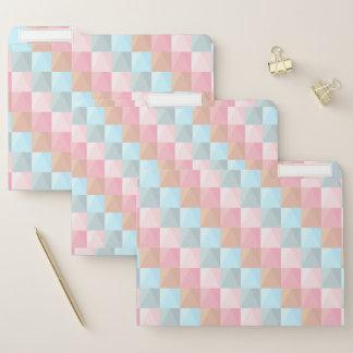 Stilvolles geometrisches papiermappe