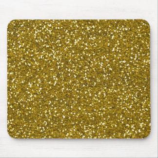 Stilvolles Glitter-Gold Mousepads