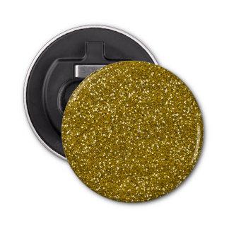 Stilvolles Glitter-Gold Runder Flaschenöffner