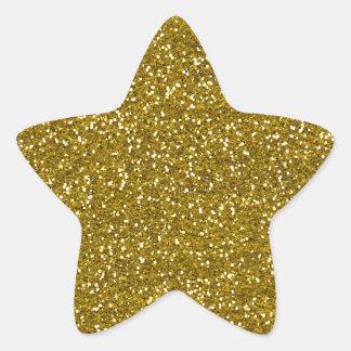 Stilvolles Glitter-Gold Stern-Aufkleber