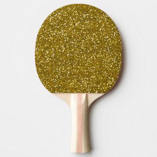 Stilvolles Glitter-Gold Tischtennis Schläger