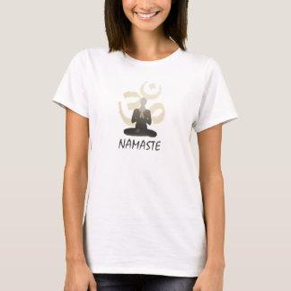 Stilvolles Goldom-Om Namaste Yoga T-Shirt