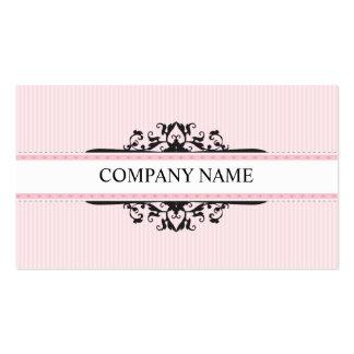 Stilvolles göttliches Vintages rosa Schwarzes DER Visitenkarten Vorlage