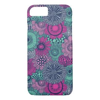 Stilvolles helles Muster der herrlichen Blumen iPhone 8/7 Hülle